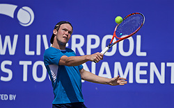 LIVERPOOL, ENGLAND - Saturday, June 22, 2019: David Quayle (GBR) during Day Three of the Liverpool International Tennis Tournament 2019 at the Liverpool Cricket Club. (Pic by David Rawcliffe/Propaganda)