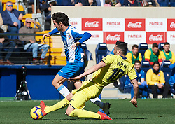 February 3, 2019 - Villarreal, Castellon, Spain - Vicente Iborra of Villarreal and Esteban Granero of RCD Espanyol during the La Liga match between Villarreal and Espanyol at Estadio de la Ceramica on February 3, 2019 in Vila-real, Spain. (Credit Image: © Maria Jose Segovia/NurPhoto via ZUMA Press)
