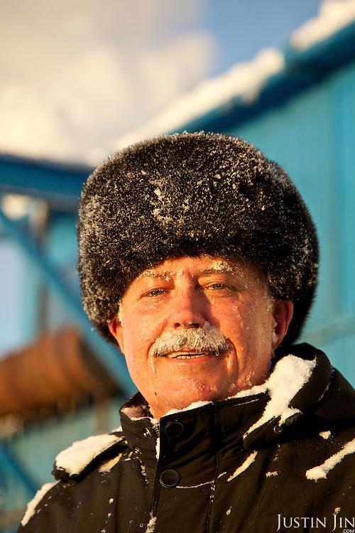 Achimgaz drilling manager Oleg Klimovich in Novy Urengoi, Siberia, Russia.