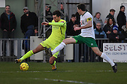 Hartlepool United defender Carl Magnay (2) controls the ball during the Ryman Premier League match between Bognor Regis Town and Havant & Waterlooville FC at Nyewood Lane, Bognor, United Kingdom on 26 December 2016. Photo by Jon Bromley.