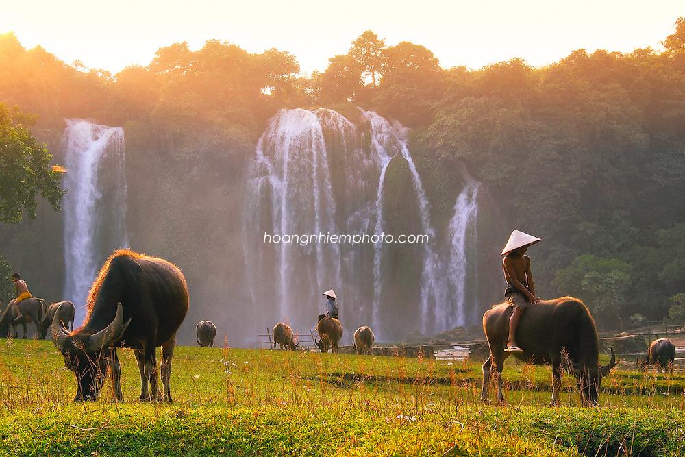 Vietnam Images-landscape-children-Cao bang phong cảnh việt nam hoàng thế nhiệm