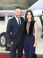 Tom Hardy, Charlotte Riley, Dunkirk - World film premiere, Leicester Square Gardens, London UK, 13 July 2017, Allied soldiers from Belgium, the British Empire, Canada, and France are surrounded by the German army and evacuated during a fierce battle in World War II.