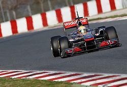 Motorsports / Formula 1: World Championship 2011, Testing in Barcelona, test, 04 Lewis Hamilton (GBR, Vodafone McLaren Mercedes),