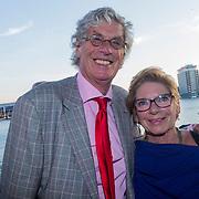 NLD/Amsterdam/20130826 - Nederlandse premiere film Borgman, Peter van Straaten en partner Els Timmerman