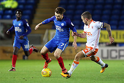 Gwion Edwards of Peterborough United in action with Jay Spearing of Blackpool - Mandatory by-line: Joe Dent/JMP - 18/11/2017 - FOOTBALL - ABAX Stadium - Peterborough, England - Peterborough United v Blackpool - Sky Bet League One