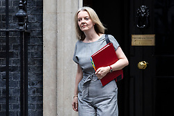 © Licensed to London News Pictures. 16/10/2018. London, UK. Chief Secretary to the Treasury Elizabeth Truss leaves 10 Downing Street after the Cabinet meeting. Photo credit: Rob Pinney/LNP