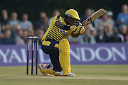 Hampshire batsman Michael Carberry during the NatWest T20 Blast South Group match between Middlesex County Cricket Club and Hampshire County Cricket Club at Uxbridge Cricket Ground, Uxbridge, United Kingdom on 27 May 2016. Photo by David Vokes.