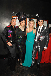 Left to right, designer JULIEN MACDONALD, PATTI WONG, actress TARA REID and ANDY WONG at Andy & Patti Wong's Chinese new Year party held at County Hall and Dali Universe, London on 26th January 2008.<br />