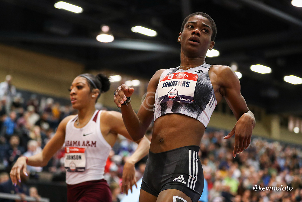 2020 USATF Indoor Championship<br /> Albuquerque, NM 2020-02-15<br /> photo credit: © 2020 Kevin Morris<br /> womens 400m, adidas