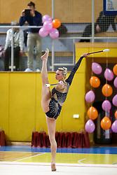 Pia Arhar of Slovenia at rhythmic gymnastics for 15th Slovenian Challenge Tournament 2013, on November 16, 2013, in Dvorana Sentvid, Ljubljana, Slovenia. (Photo by Matic Klansek Velej / Sportida.com)