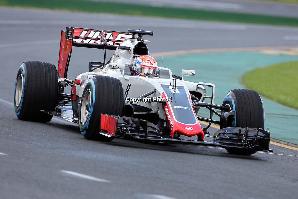&copy; Photo4 / LaPresse<br /> 18/03/2016 Melbourne, Australia<br /> Sport <br /> Grand Prix Formula One Australia 2016<br /> In the pic: Romain Grosjean (FRA) Haas F1 Team VF-16