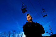 Larry Pirozzi is the lift supervisor for the ski slopes at Campgaw Mountain December 20, 2006 in Mahwah, New Jersey