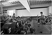 April 1976  •  Venice Beach, CA  •  the original Gold's Gym on Pacific •  Bunte assignment  •  Tri-X  •