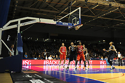RSG advertising at the Worcester Arena - Photo mandatory by-line: Dougie Allward/JMP - Mobile: 07966 386802 - 31/10/2014 - SPORT - Football - Worcester - Worcester Arena - Worcester Wolves v Bristol Flyers - British Basketball League Cup