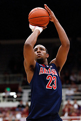 February 3, 2011; Stanford, CA, USA;  Arizona Wildcats forward Derrick Williams (23) shoots a free throw against the Stanford Cardinal during the first half at Maples Pavilion.  Arizona defeated Stanford 78-69.
