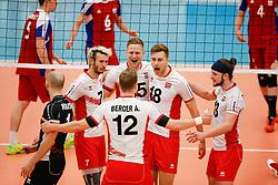 20170525 NED: 2018 FIVB Volleyball World Championship qualification, Koog aan de Zaan<br />Team Austria celebrate a point<br />©2017-FotoHoogendoorn.nl / Pim Waslander