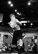 Ricky Hatton during a media workout ahead of the Light Welterweight title fight that will take place at the MGM Grand on May 2nd 2009.