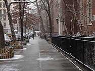 Winter scene near Public School 6 (PS6) on 80th street near Madson Avenue.