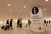 A sign for tourist information in Tokyo Post Tower near tokyo Station in Tokyo, Japan Friday January 30th 2015.