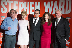 "© Licensed to London News Pictures. 30/09/2013. London, England. L-R: Lord Andrew Lloyd Webber, Charlotte Blackledge as Mandy Rice Davies, Alexander Hanson as Stephen Ward and Charlotte Spencer as Christine Keeler and Richard Eyre.Photocall with the main cast and creatives behind the new Andrew Lloyd Webber Musical ""Stephen Ward"". The musical is due to premiere in the West End in December 2013. Photo credit: Bettina Strenske/LNP"