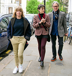 © Licensed to London News Pictures. 02/05/2017. London, UK. RACHEL JOHNSON (Left) and actress HARRIET WALTER (Centre) and her husband GUY PAUL (Right) arrive to watch a discussion titled How to Brexit: The Best Deal for Britain, hosted by the The how to: Academy, in West London. ON the panel were Gina Miller and Stanley Johnson. Photo credit: Ben Cawthra/LNP