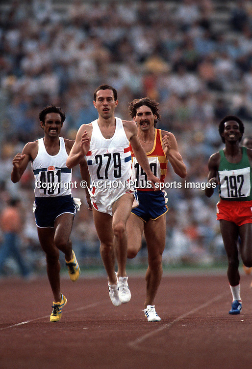 STEVE OVETT (GBR), Men's 800m Heat, Moscow Olympic Games 80, Photo:Leo Mason/Action Plus/ Photosport<br />