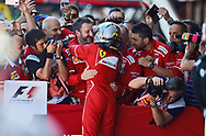 Sebastian Vettel of Scuderia Ferrari takes second place in the Spanish Formula One Grand Prix at Circuit de Catalunya, Barcelona<br /> Picture by EXPA Pictures/Focus Images Ltd 07814482222<br /> 14/05/2017<br /> *** UK &amp; IRELAND ONLY ***<br /> <br /> EXPA-EIB-170514-0107.jpg