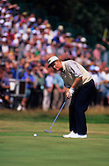 960720/ ROYAL LYTHAM ST. ANNES, UK/ PHOTO MARK NEWCOMBE / THE OPEN CHAMPIONSHIP 1996<br /> Jack Niclaus putting