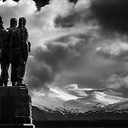 The Commando's view, Nevis range from the war memorial at Spean Bridge