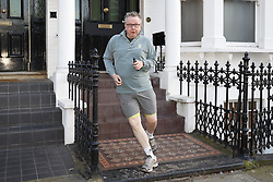 © Licensed to London News Pictures. 05/02/2018. London, UK. Environment Sectetary Michael Gove goes for a run from home. Later Brexit Secretary David Davis will meet with European Commission's Chief Negotiator Michel Barnier in Downing Street for talks. Photo credit: Peter Macdiarmid/LNP