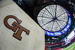 General images prior to the Chick-fil-A Kickoff NCAA football game between the Georgia Tech Yellow Jackets and Tennessee Volunteers on Monday, September 4, 2017, in Atlanta. (Paul Abell via Abell Images for Chick-fil-A Kickoff Game)