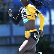 Deedee Trotter, USA, winning the 400m Women B race at the Diamond League Adidas Grand Prix at Icahn Stadium, Randall's Island, Manhattan, New York, USA. 13th June 2015. Photo Tim Clayton