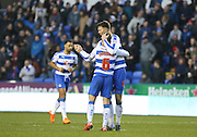 Reading defender Jake Cooper (35) celebrates his equalising goal during the Sky Bet Championship match between Reading and Sheffield Wednesday at the Madejski Stadium, Reading, England on 23 January 2016. Photo by Phil Duncan.