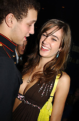 SOPHIA ROGGE and LORD FREDERICK WINDSOR at a party hosted by Tatler magazine to celebrate the publication of the 2004 Little Black Book held at Tramp, 38 Jermyn Street, London SW1 on 10th November 2004.<br />