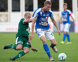 29.07.2016, Gernot Langes Stadion, Wattens, AUT, 2. FBL, WSG Wattens vs Floridsdorfer AC, 2. Runde, im Bild v.l.n.r.: Martin Svejnoha (WSG Wattens) und Thomas Hirschhofer (Floridsdorfer AC) // during second Austrian Bundesliga 2nd round match between WSG Wattens and Floridsdorfer AC, at the Gernot Langes Stadion in Wattens, Austria on 2016/07/29. EXPA Pictures © 2016, PhotoCredit: EXPA/ Jakob Gruber