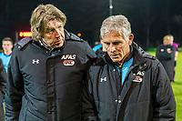 ARNHEM - 27-03-2017, Jong Vitesse - Jong AZ, Sport center Papendal, 2-2, teleurstelling bij Jong AZ trainer Martin Haar.