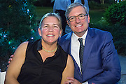 Katherine and Tony Gelderman at Magic in the Moonlight 2015 benefit for the New Orleans Botanical Garden in City Park