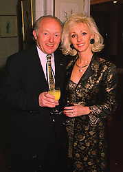 MR & MRS PAUL DANIELS, he is the magician, at a party in London on 23rd March 1998.MGI 3