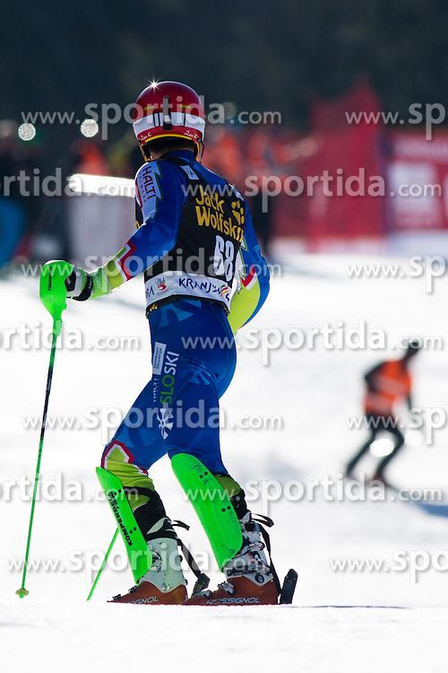 KRANJECZan of Slovenia during the 1st Run of Men's Slalom - Pokal Vitranc 2014 of FIS Alpine Ski World Cup 2013/2014, on March 9, 2014 in Vitranc, Kranjska Gora, Slovenia. Photo by Matic Klansek Velej / Sportida
