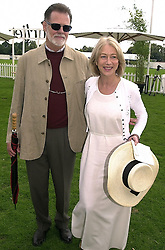 Actress HELEN MIRREN and her husband MR TAYLOR HACKFORD, at a polo match in Berkshire on 30th July 2000.OGN 183