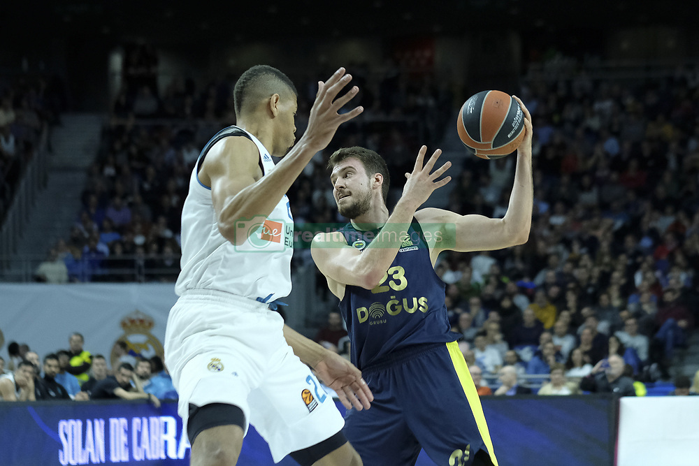 March 2, 2018 - Madrid, Madrid, Spain - GUDURI MARKO of Fenerbahce Dogus in action  during the Turkish Airlines Euroleague basketball match between Real Madrid and Fenerbahce Dogus at the Wizink Center in Madrid, Spain on March 2, 2018. Photo: Oscar Gonzalez/NurPhoto  (Credit Image: © Oscar Gonzalez/NurPhoto via ZUMA Press)