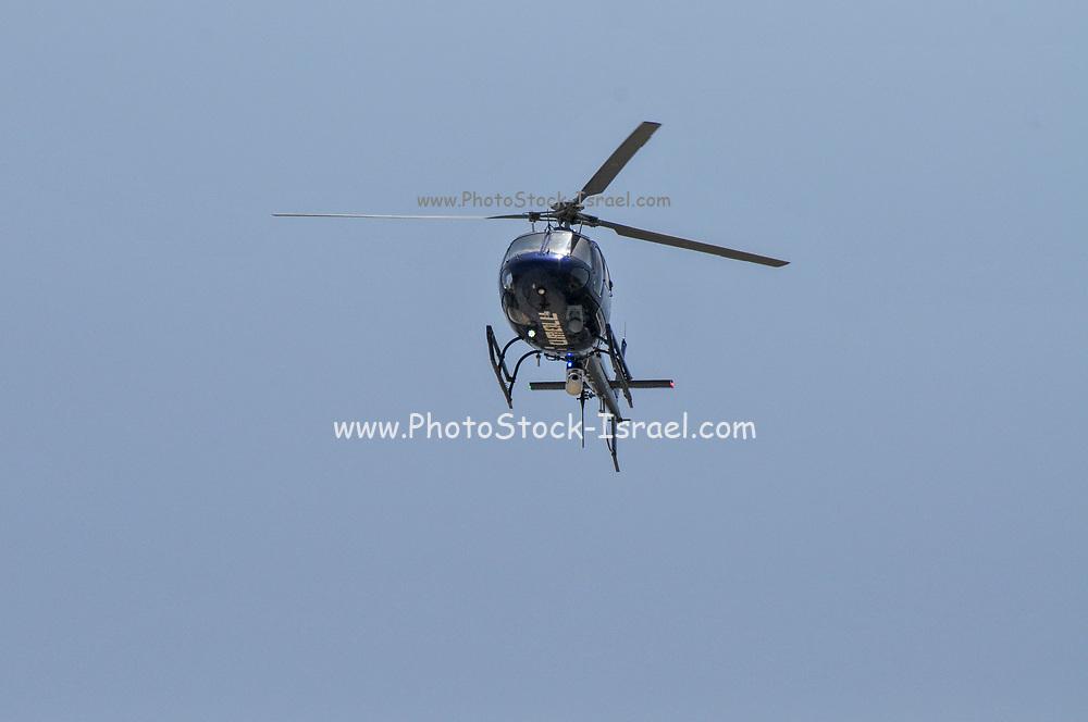 Israeli Police helicopter in flight