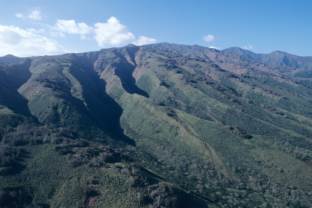 Aerial view of West Maui Mountains