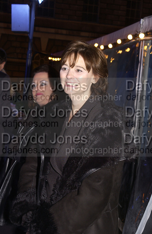 Cherie Booth. ( Cherie Blair) Launch of the Somerset House Christmas Ice Rink. Hosted by Sir Timothy Sainsbury and H.E. Bruno Spinner Amabassador of Switzerland. © Copyright Photograph by Dafydd Jones 66 Stockwell Park Rd. London SW9 0DA Tel 020 7733 0108 www.dafjones.com