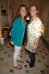 Left to right, VINNIE DAY and LAURA LOPES at a lunch in aid of African Solutions To African Problems held at Il Bottaccio, 9 Grosvenor Place, London on 20th May 2008.<br />