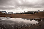 Medano Creek amidst stormy skies, Great Sand Dunes National Park