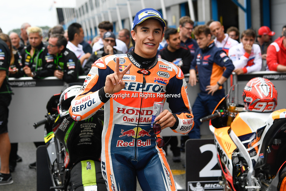 June 24th 2017, TT Circuit, Assen, Netherlands; MotoGP Grand Prix TT Assen, Qualifying Day; Marc Marquez (Repsol Honda) at parc ferme takes 2nd on grid