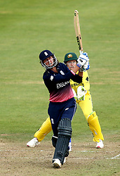 Jenny Gunn of England Women goes on the attack - Mandatory by-line: Robbie Stephenson/JMP - 09/07/2017 - CRICKET - Bristol County Ground - Bristol, United Kingdom - England v Australia - ICC Women's World Cup match 19