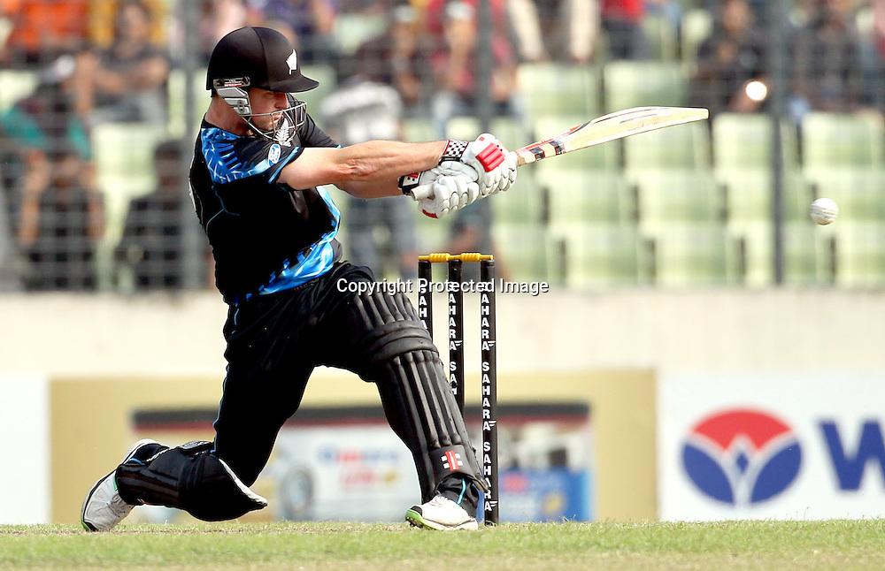 Colin Munro, New Zealand Black Caps v Bangladesh, 1st and only T20 international cricket match at Shere Bangla National Stadium, Mirpur, Bangladesh. 6 November 2013. Photo: Shamsul Hoque Tanku/Photosport.co.nz