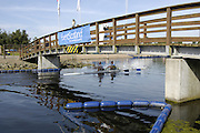 2006, National Rowing Championships,  Strathclyde Country Park, crews, pass under the Bridge.  Motherwell, SCOTLAND. 15.07.2006.  Photo  Peter Spurrier/Intersport Images email images@intersport-images.com.... Rowing Course, Strathclyde Country Park,  Motherwell, SCOTLAND.